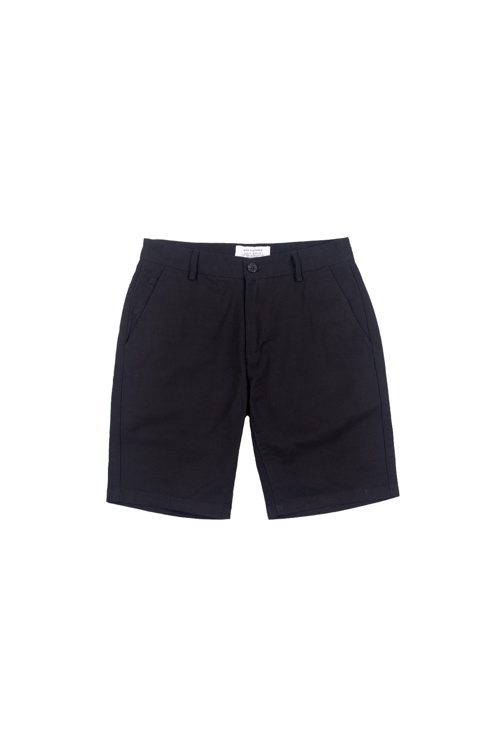 STANDARD-FIT CHINO SHORT PANT | BLACK - 94
