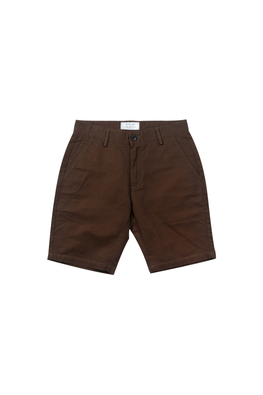 STANDARD-FIT CHINO SHORT PANT | BROWN - 94