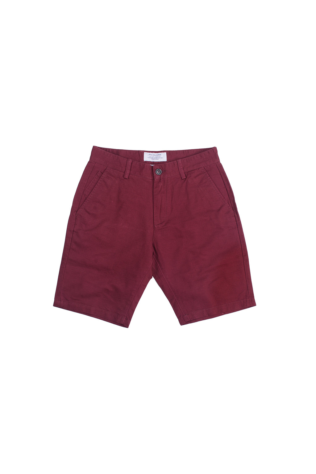 STANDARD-FIT CHINO SHORT PANT | MAROON - 94