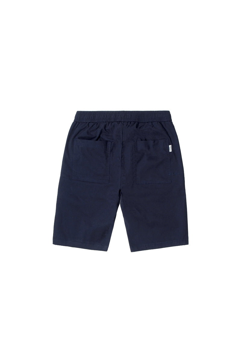 LOOSE-FIT ELASTIC WAISTBAND SHORT PANT | NAVY - 97