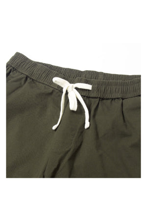 LOOSE-FIT ELASTIC WAISTBAND SHORT PANT | ARMY - 97