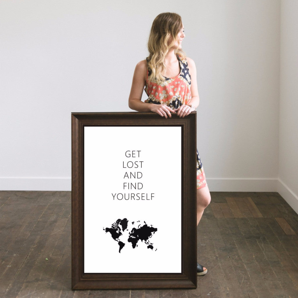 "Big Wall Art 24"" X 36"" - Get Lost and Find (World)"