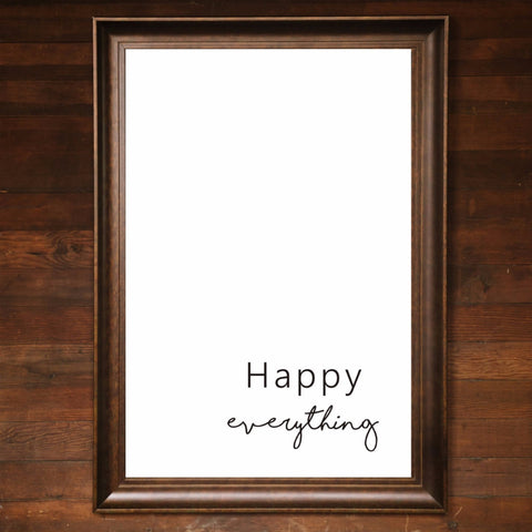 "Big Wall Art 24"" X 36"" - Happy Everything"