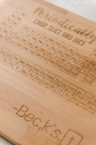 Cutting Board - Periodically - Personalized