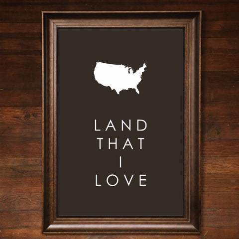 "Big Wall Art 24"" X 36"" - Land That I Love"