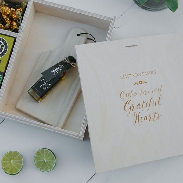 House Warming Box - Gather Here With Grateful Hearts
