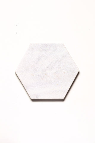 Hexagon - White Marble