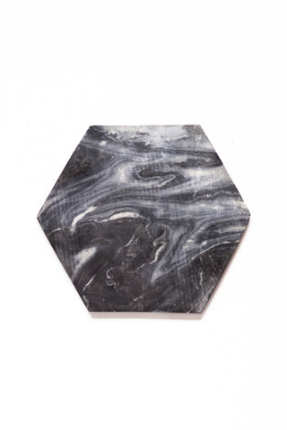 Hexagon - Grey Marble