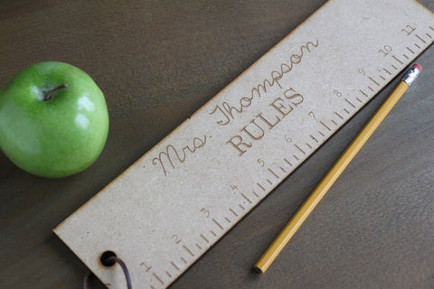 "Teacher Rulers - 12"" - Rules!"