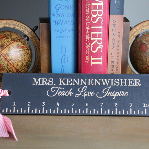 "Teacher Rulers - 12"" - Teach, Love, Inspire"