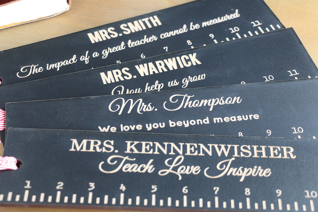 "Teacher Rulers - 12"" - You help us grow!"