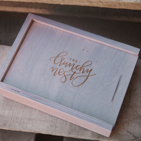 "4"" X 6"" Print Vertical Wood Box"