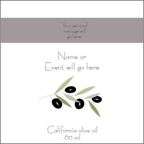 Olive Oil Label - Olive Branch White