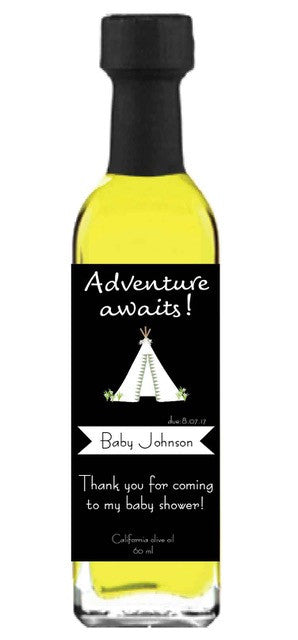 Olive Oil Label - Adventure Awaits