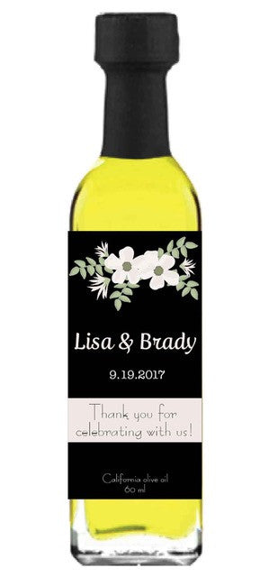 Olive Oil Label - Wedding Flowers