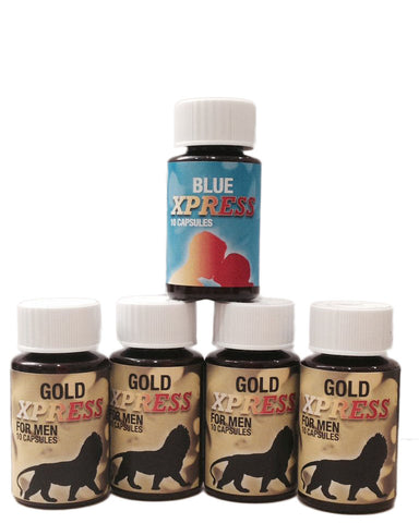 Buy 4 Gold Xpress and get 1 Blue Xpress FREE