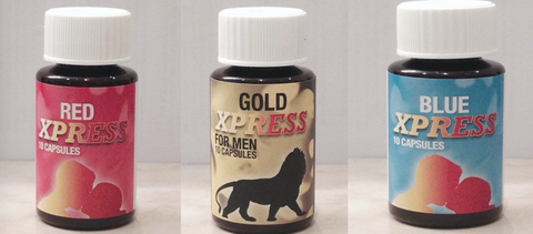 Combination Offer! 1 Bottle of Gold Express, Red Express and Blue Express