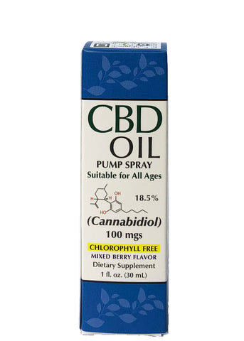 CBD Oil Pump Spray Mixed Berry