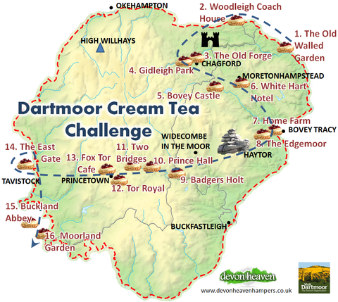 Dartmoor Cream Tea Adventure Challenge