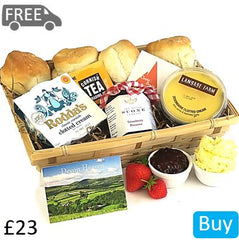 Devon vs Cornwall Cream Tea Hamper