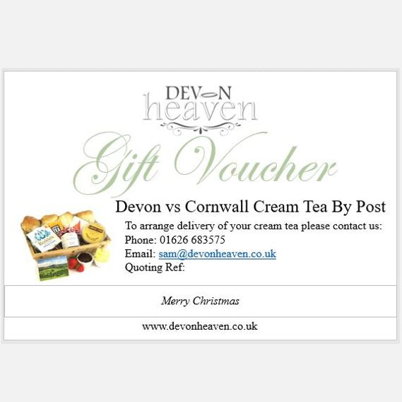 Gift Vouchers For Cream Tea Hampers