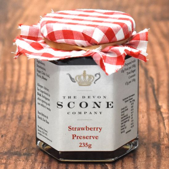Devon Scone Company Strawberry Jam