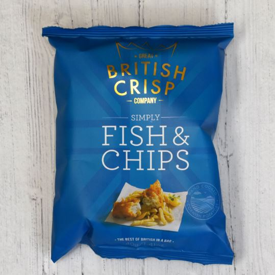 Fish and Chip Flavour Crisps