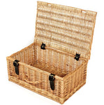 Large Lidded Wicker Hamper