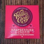 Willies Cacao Raspeberries and Cream White Chocolate Bar