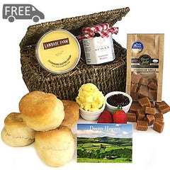 Devon Cream Tea Hamper with Fudge