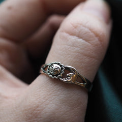 Noon & Night - Sterling Silver Ring