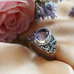 Incantation - Amethyst & Sterling Silver Ring