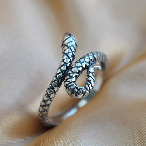Sea Snake - Sterling Silver Ring