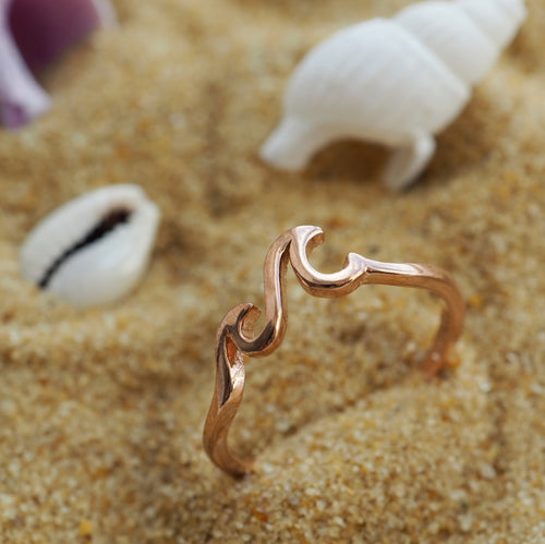 High Tides - Rose Gold Plated Sterling Silver Wave Ring