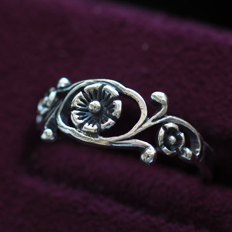 Poppy - Sterling Silver Flower Ring