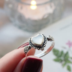 Adored - Mother of Pearl & Sterling Silver Ring