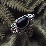 Goddess - Black Onyx & Sterling Silver Ring