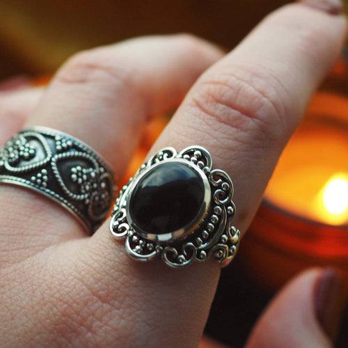 Majesty - Black Onyx & Sterling Silver Ring