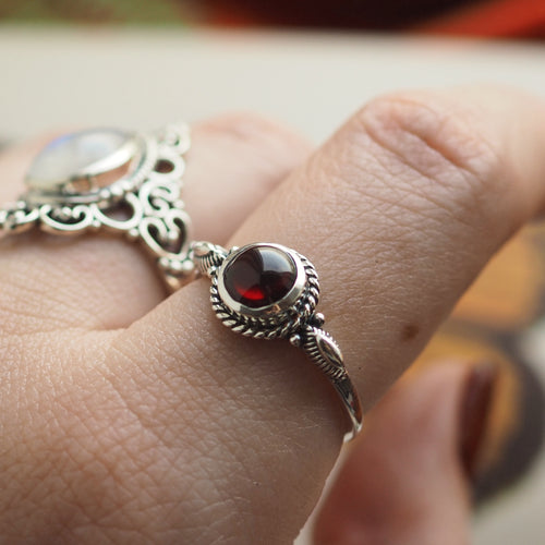 Trinket - Garnet & Sterling Silver Ring