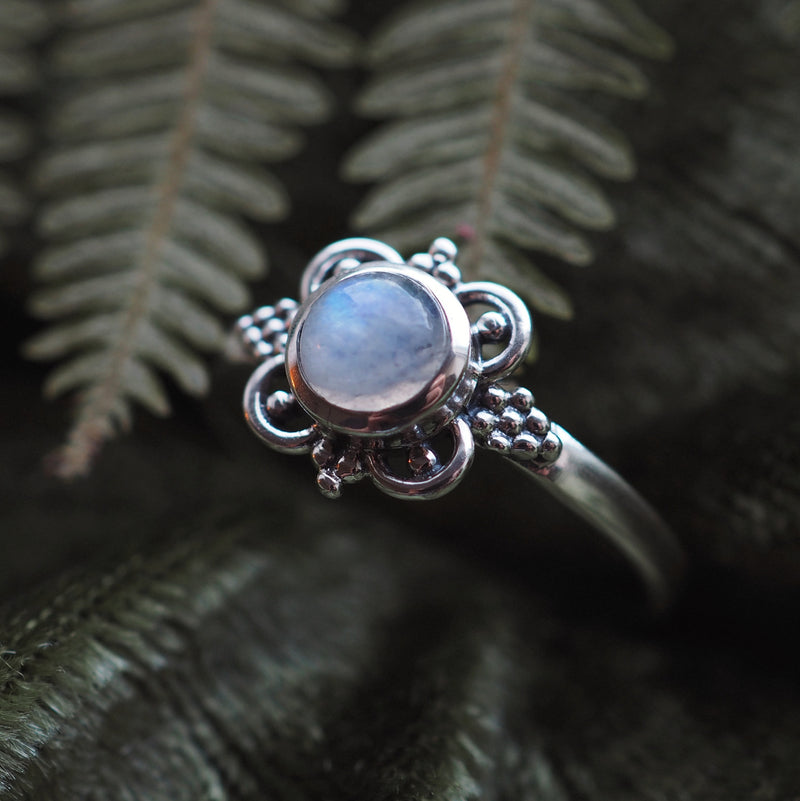Spell - Rainbow Moonstone & Sterling Silver Ring