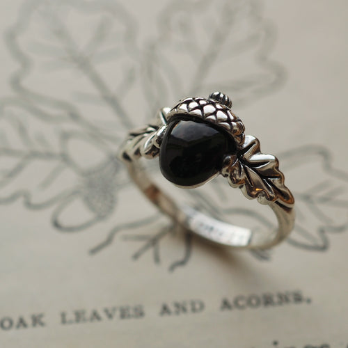 Nature Lover - Black Onyx & Sterling Silver Ring