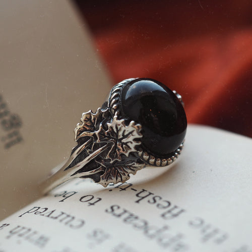 Forest Wisdom - Black Onyx & Sterling Silver Ring