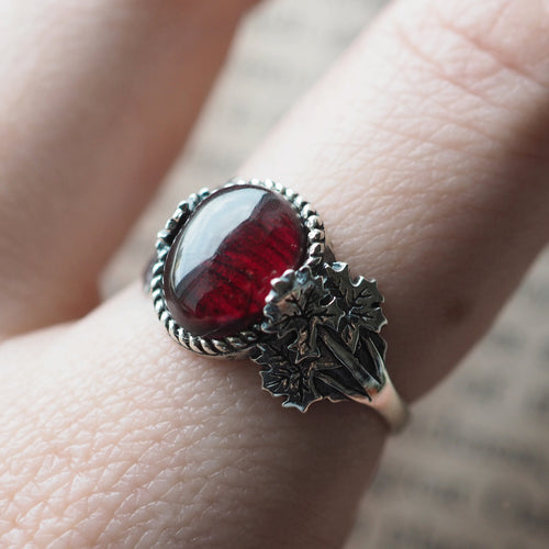 Forest Wisdom - Garnet & Sterling Silver Ring