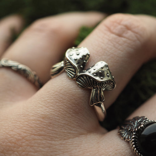 Toadstool - Sterling Silver Ring