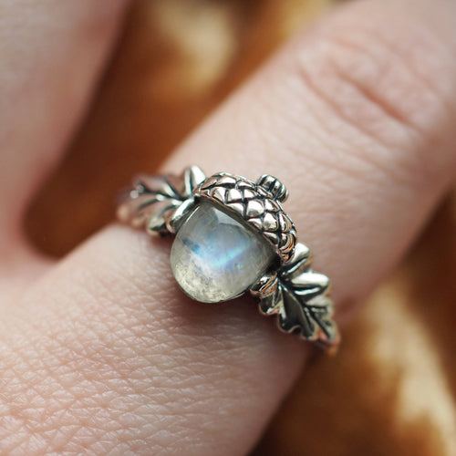 Nature Lover - Rainbow Moonstone & Sterling Silver Ring