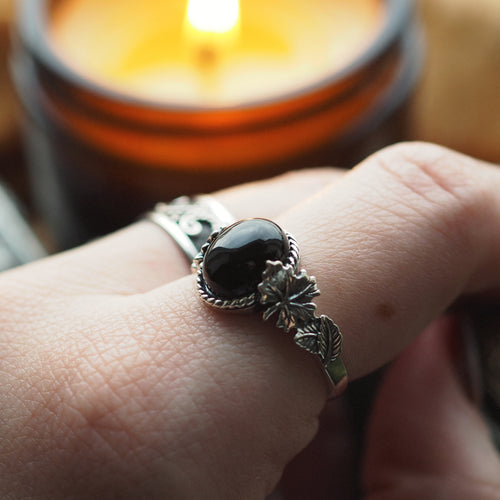 Wonders of the Woodlands - Black Onyx & Sterling Silver Ring