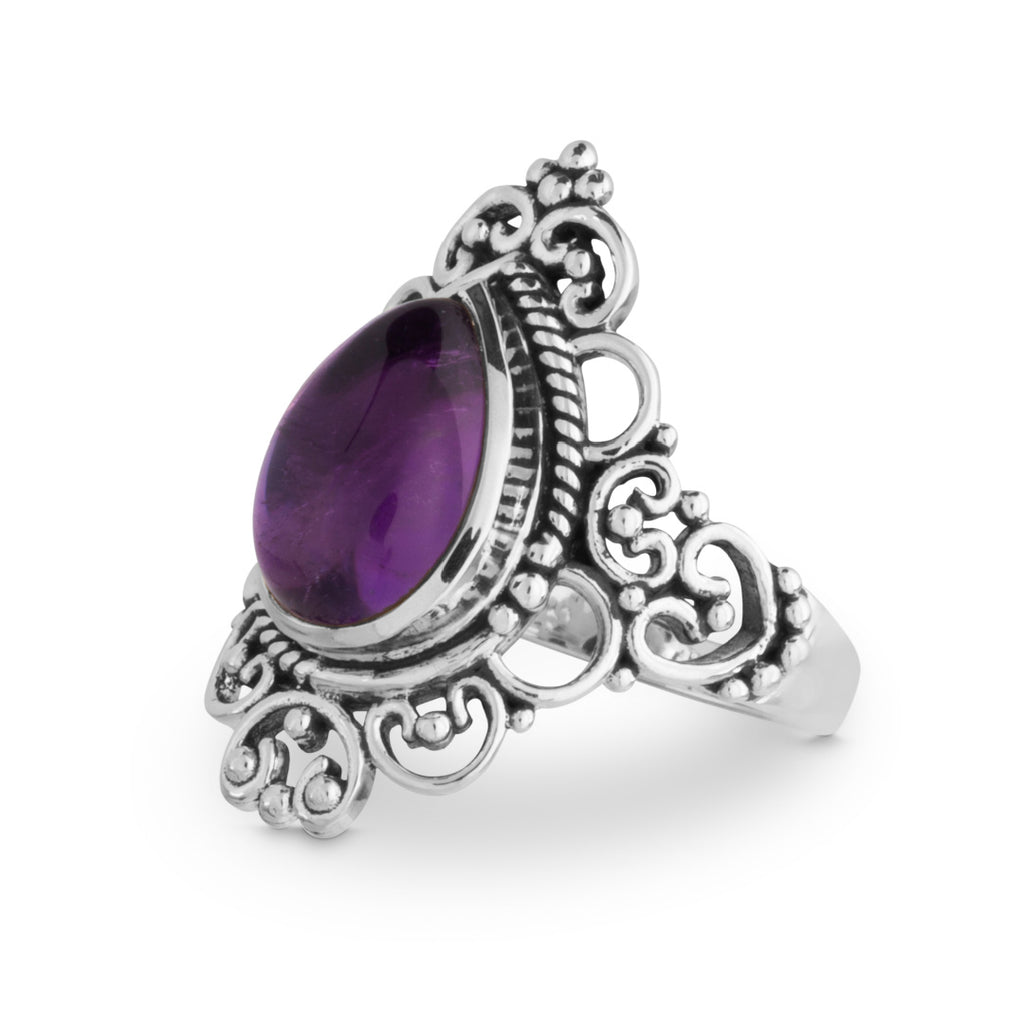 Goddess - Amethyst & Sterling Silver Ring