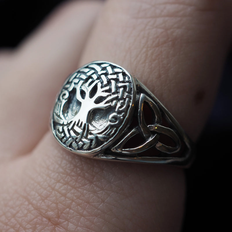 Sacred Tree - Sterling Silver Ring