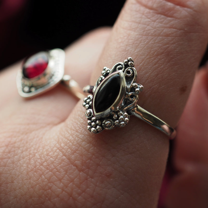Sorcery - Black Onyx & Sterling Silver Ring