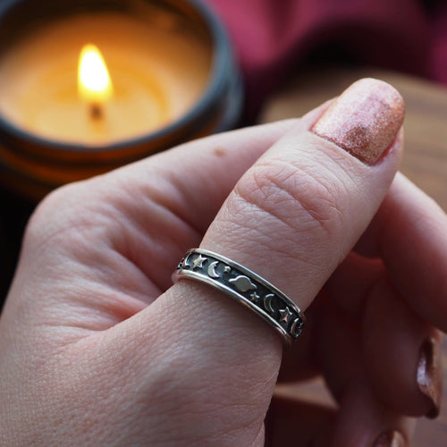 Space Lover - Sterling Silver Ring